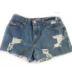 Levi's Shorts - Levi's 550 Distressed High Rise Mom Cut Off Shorts